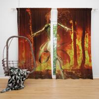 Phoenix Comic in Marvel vs Capcom 3 Fate of Two Worlds Video Game Bedroom Window Curtain