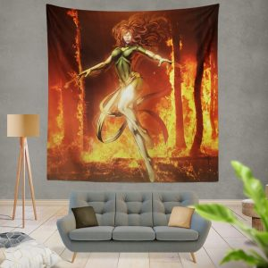 Phoenix Comic in Marvel vs Capcom 3 Fate of Two Worlds Video Game Wall Hanging Tapestry