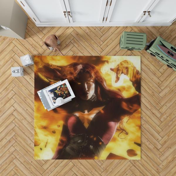 Phoenix Jean Gray Marvel Comics Bedroom Living Room Floor Carpet Rug