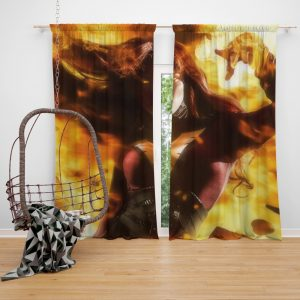 Phoenix Jean Gray Marvel Comics Bedroom Window Curtain