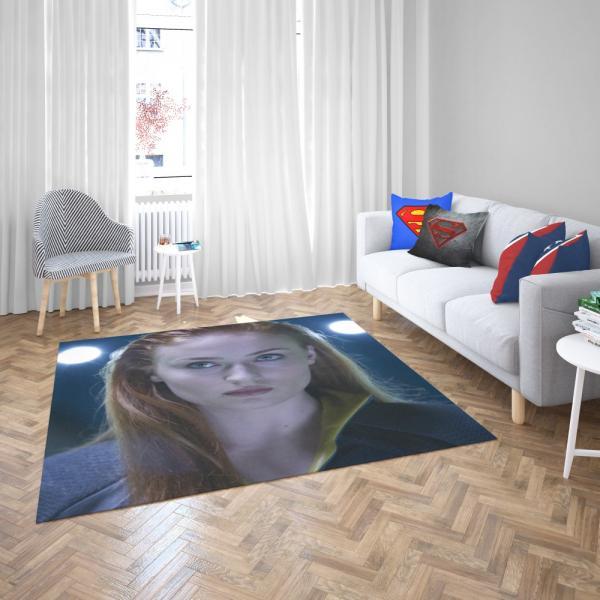 Phoenix Sophie Turner X-Men Apocalypse Jean Grey Marvel Bedroom Living Room Floor Carpet Rug