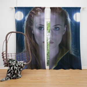 Phoenix Sophie Turner X-Men Apocalypse Jean Grey Marvel Bedroom Window Curtain