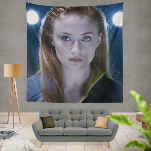 Phoenix Sophie Turner X-Men Apocalypse Jean Grey Marvel Wall Hanging Tapestry