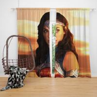 Princess Diana of Themyscira Wonder Woman Gal Gadot Bedroom Window Curtain