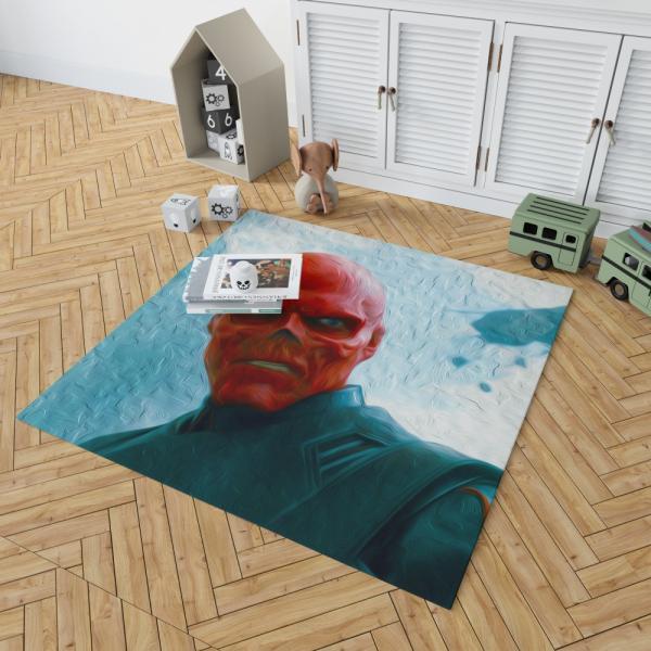 RED SKULL in Marvel Captain America The First Avenger Movie Bedroom Living Room Floor Carpet Rug