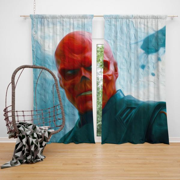 RED SKULL in Marvel Captain America The First Avenger Movie Bedroom Window Curtain