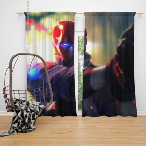 Red Hood DC Comics Super Hero Bedroom Window Curtain