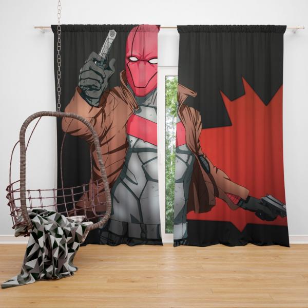 Red Hood DC Detective Comics Bedroom Window Curtain