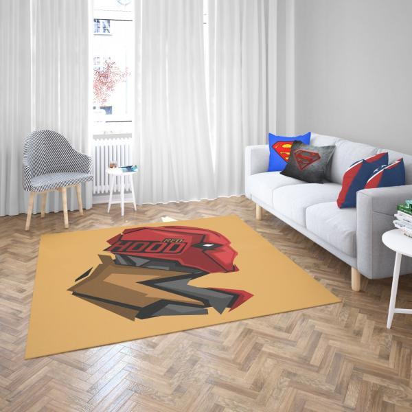 Red Hood Jason Todd DC Comics Bedroom Living Room Floor Carpet Rug