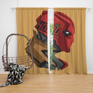 Red Hood Jason Todd DC Comics Bedroom Window Curtain