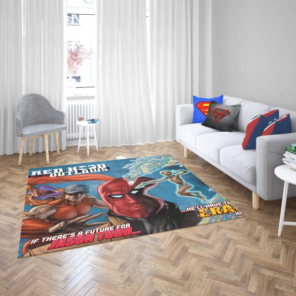 Red Hood and the Outlaws DC Comics Bedroom Living Room Floor Carpet Rug