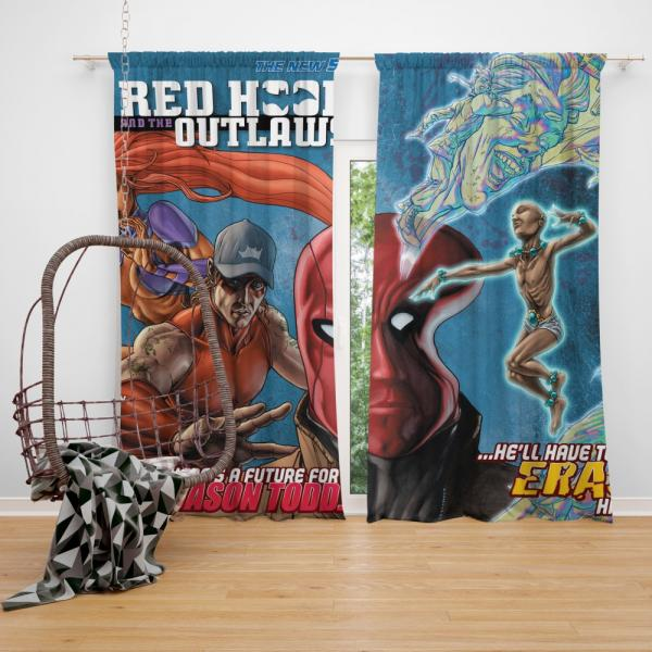 Red Hood and the Outlaws DC Comics Bedroom Window Curtain