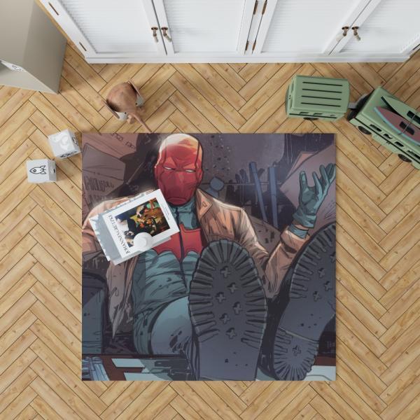 Red Hood and the Outlaws Jason Todd Batman DC Comics Bedroom Living Room Floor Carpet Rug