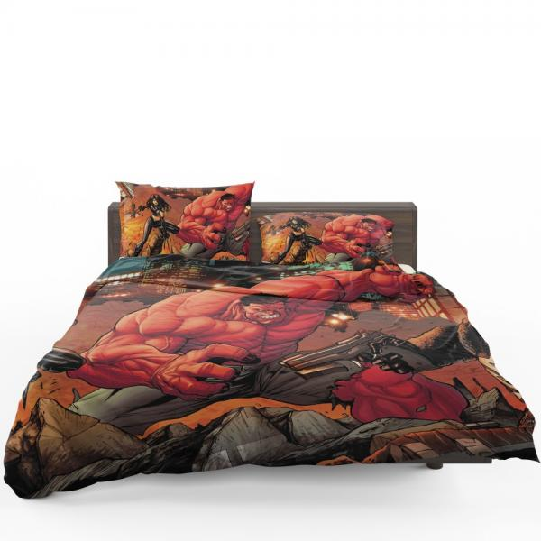 Red Hulk Circle of Four X 23 Marvel Comics Bedding Set