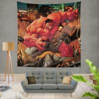 Red Hulk Circle of Four X 23 Marvel Comics Wall Hanging Tapestry