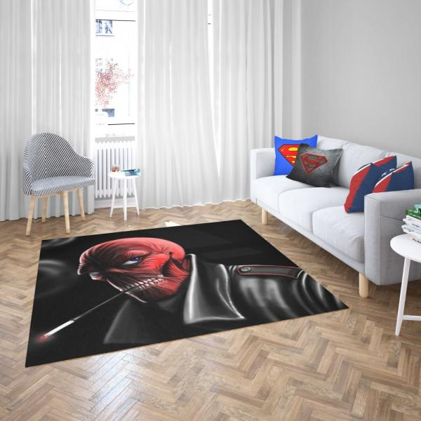 Red Skull Nazi Germany HYDRA Marvel Comics Bedroom Living Room Floor Carpet Rug