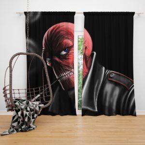 Red Skull Nazi Germany HYDRA Marvel Comics Bedroom Window Curtain