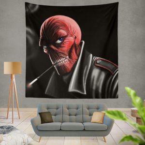Red Skull Nazi Germany HYDRA Marvel Comics Wall Hanging Tapestry