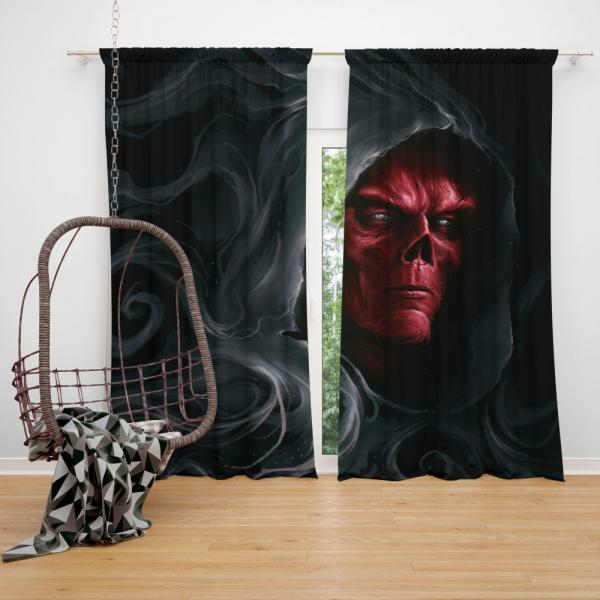 Red Skull in Marvel Avengers Infinity War Movie Bedroom Window Curtain