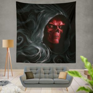 Red Skull in Marvel Avengers Infinity War Movie Wall Hanging Tapestry