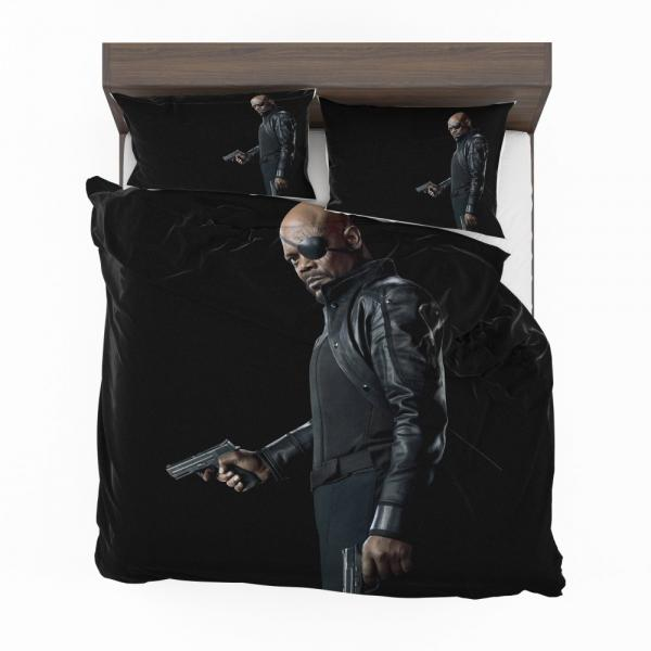 Samuel L Jackson Nick Fury Captain Marvel Avengers Infinity Bedding Set
