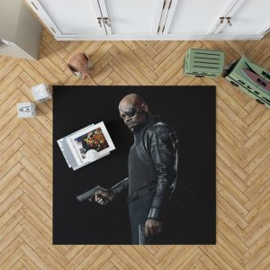 Samuel L Jackson Nick Fury Captain Marvel Avengers Infinity Bedroom Living Room Floor Carpet Rug