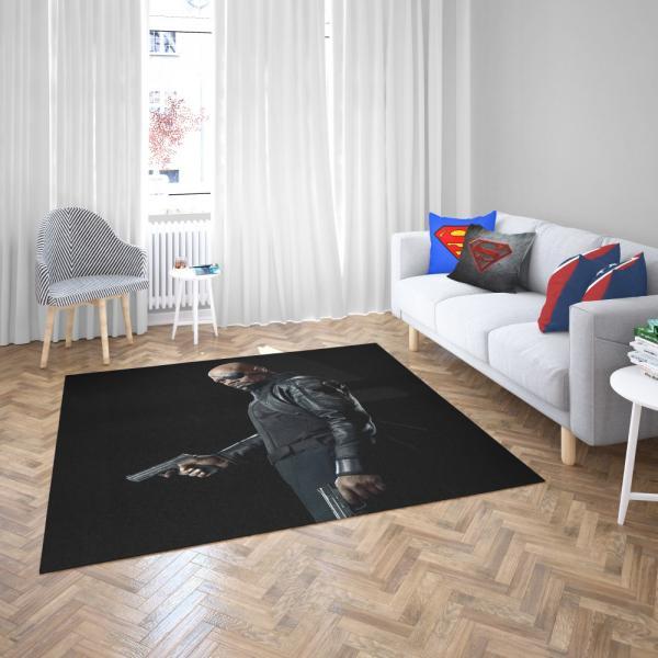 Samuel L Jackson Nick Fury Captain Marvel Avengers Infinity Bedroom Living Room Floor Carpet Rug