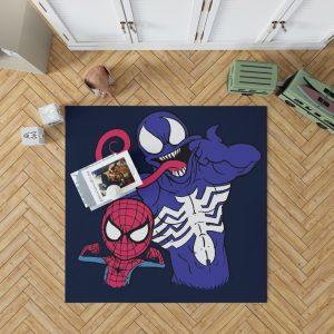 Spider Man & Venom Marvel MCU Artwork Bedroom Living Room Floor Carpet Rug