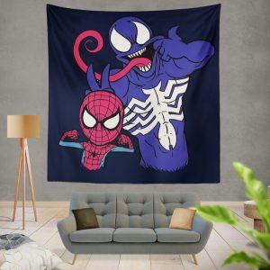 Spider Man & Venom Marvel MCU Artwork Wall Hanging Tapestry