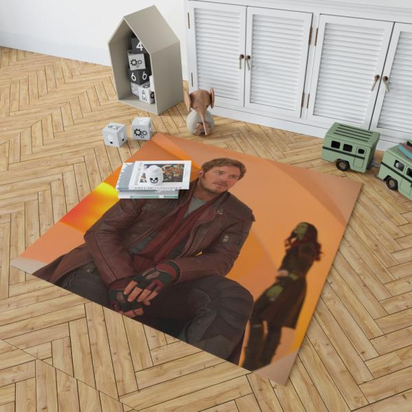 Star Lord Chris Pratt Guardians of the Galaxy Vol 2 Movie Bedroom Living Room Floor Carpet Rug