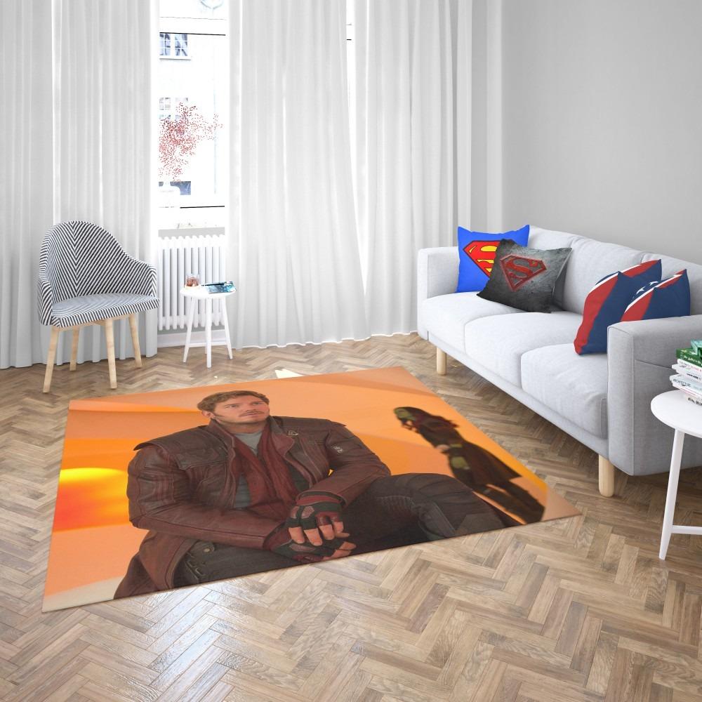 Star Lord Chris Pratt Guardians of the Galaxy Vol 2 Movie Bedroom Living  Room Floor Carpet Rug | Super Heroes Bedding
