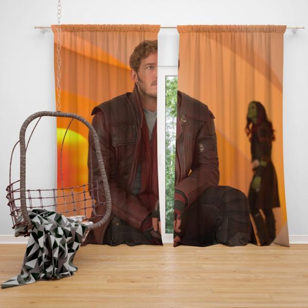 Star Lord Chris Pratt Guardians of the Galaxy Vol 2 Movie Bedroom Window Curtain