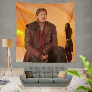Star Lord Chris Pratt Guardians of the Galaxy Vol 2 Movie Wall Hanging Tapestry