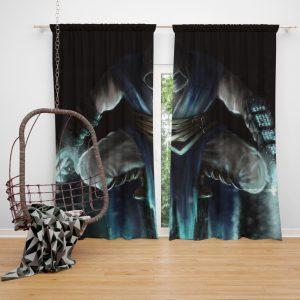 Sub Zero Mortal Kombat Game Bedroom Window Curtain