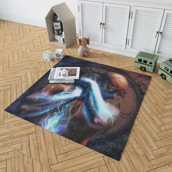 Sub Zero Mortal Kombat Super Hero Bedroom Living Room Floor Carpet Rug