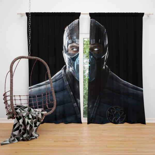 Sub Zero Mortal Kombat x PC Game Bedroom Window Curtain