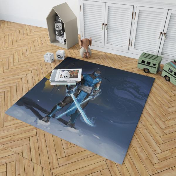 Sub Zero Sword Warrior Mortal Kombat Video Game Bedroom Living Room Floor Carpet Rug