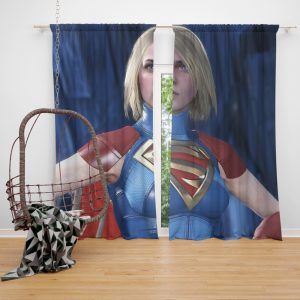 Supergirl DC Comics Injustice 2 Video Game Unreal Engine 3 Bedroom Window Curtain