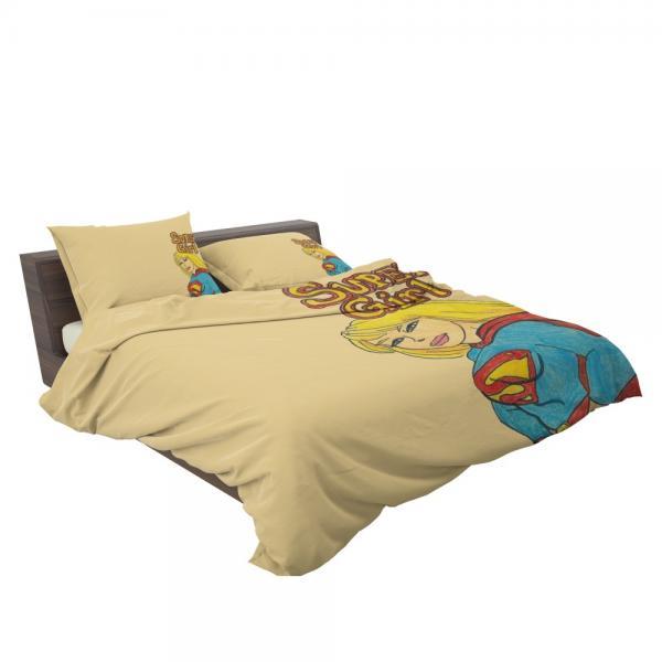 Supergirl DC Comics Kara Zor-El Justice League Bedding Set