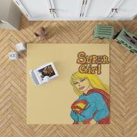 Supergirl DC Comics Kara Zor-El Justice League Bedroom Living Room Floor Carpet Rug