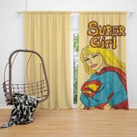 Supergirl DC Comics Kara Zor-El Justice League Bedroom Window Curtain