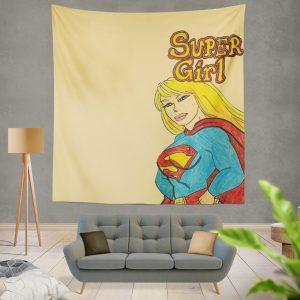 Supergirl DC Comics Kara Zor-El Justice League Wall Hanging Tapestry