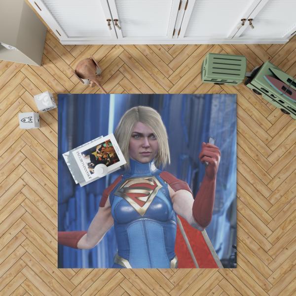 Supergirl DC Universe Injustice 2 PC Game Bedroom Living Room Floor Carpet Rug