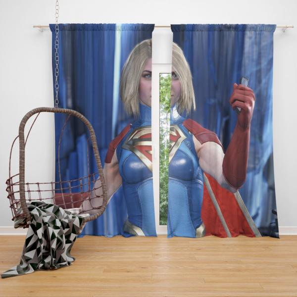 Supergirl DC Universe Injustice 2 PC Game Bedroom Window Curtain