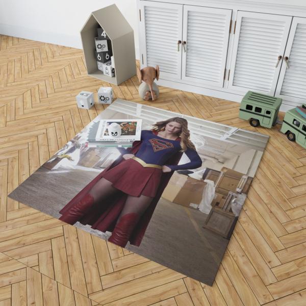 Supergirl Melissa Benoist DC Comics TV Show Justice League United Bedroom Living Room Floor Carpet Rug