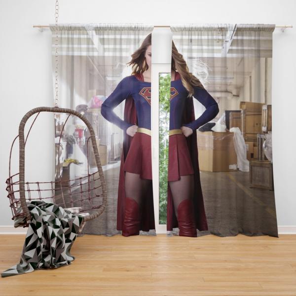 Supergirl Melissa Benoist DC Comics TV Show Justice League United Bedroom Window Curtain