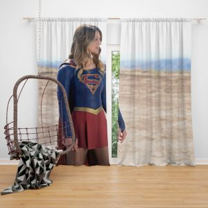 Supergirl Melissa Benoist Kara Zor‑El TV Show Female Furies Bedroom Window Curtain