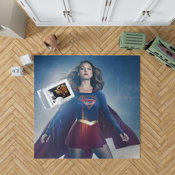 Supergirl TV Show Melissa Benoist DC Comics Bedroom Living Room Floor Carpet Rug