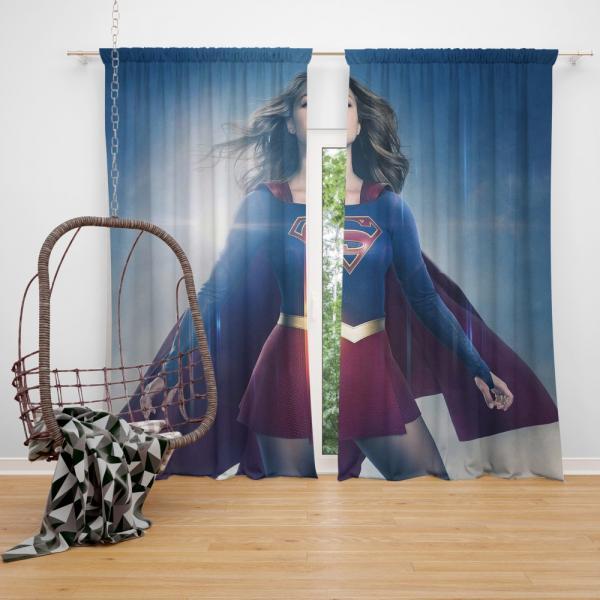 Supergirl TV Show Melissa Benoist DC Comics Bedroom Window Curtain