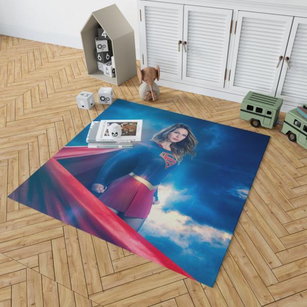 Supergirl TV Show Melissa Benoist Teen Titans Bedroom Living Room Floor Carpet Rug